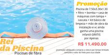 Piscina De 7.50x3.30x1.30 + Piscina Infantil + Instalaçao