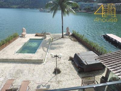 Angra Dos Reis - Excelente Casa Na Beira Da Praia Mobiliada 06 Suítes 02 Pavimentos Piscina Na Ponta Dos Ubás Para Venda. - Ca0307