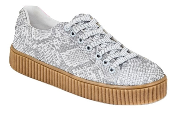 Dtt04887 Zapato Casual Textil Liso Animalprint