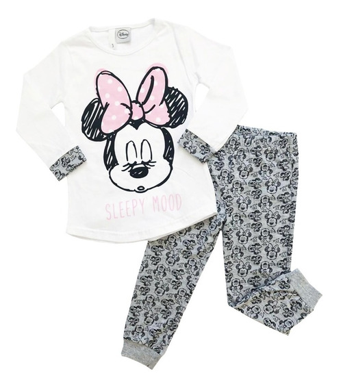 Pijama Manga Larga Disney Minnie Mouse Original Mundo Manias