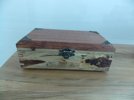 Caixa Para Jóias Em Madeiras Nobres - Frete Grátis