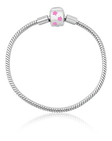 Pulseira Tipo Pandora Prata Pura 925 Para Berloques Infantil