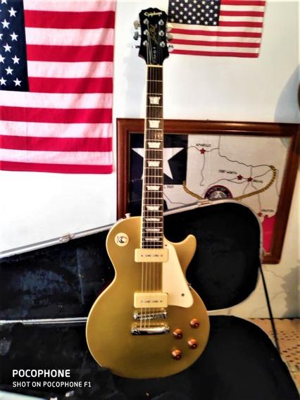 Guitarra EpiPhone Les Paul Gold Top 56 P 90 Gibson-troco