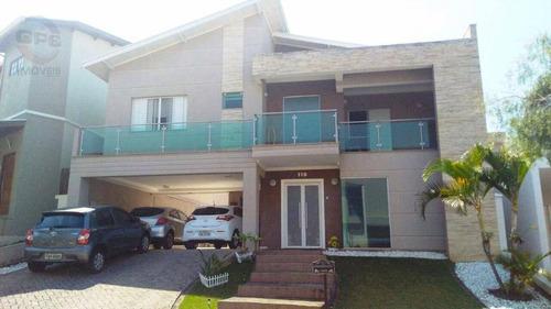 Casa Com 4 Quartos À Venda, 206 M² Por R$ 1.100.000 - Condomínio Amstalden Residence - Indaiatuba/sp - Ca0056