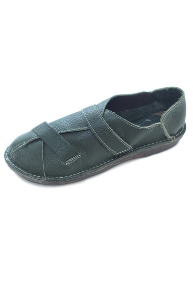 Sapato Feminino Hms Couro Verde Musgo 37