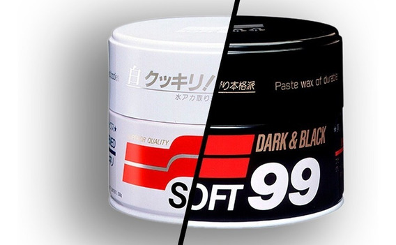 Kit 2x Soft99 Dark Black Ou Soft99 White Cleaner