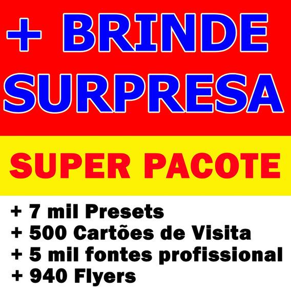 7 Mil Presets + 5 Mil Fontes + 500 Cartões De Visita + Flyer