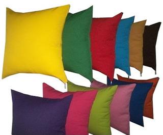 Almohadones Colores Lisos 40x40 Con Cierre - Súper Oferta !!!