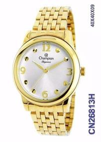 Relógio Champion Feminino Dourado Elegance Original Cn26813h