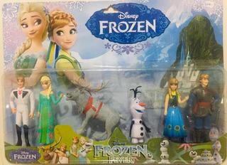 Set Blister Juguetes Muñecos Frozen X6 Figuras Anna Elsa