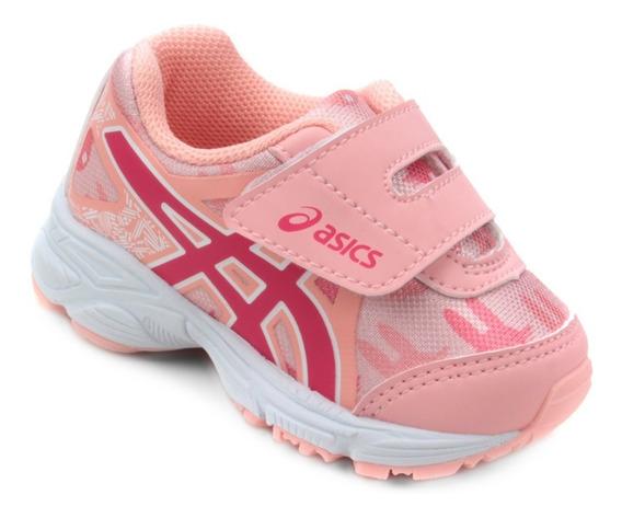 Tenis Infantil Asics Sugar Baby 3 Ts Salmon/rosa