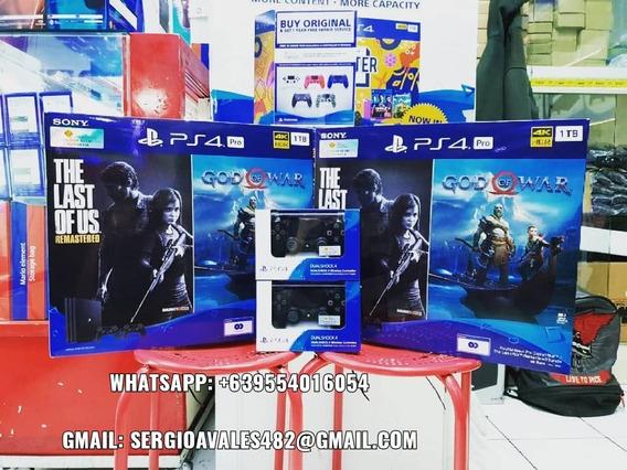 Novo Original Ps4 Pro Preto 1tb 2 Jogo Joystick