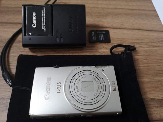 Câmera Canon Ixus 125hs-16.1 Mp + Sd 4gb