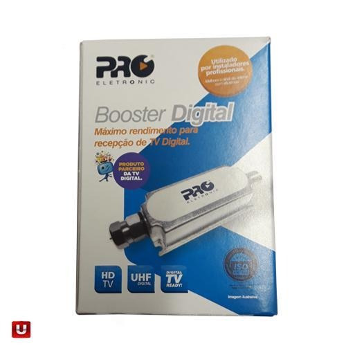 Booster Amplificador Uhf Tv Digital 40 Db +1 Metro Cabo Rg6