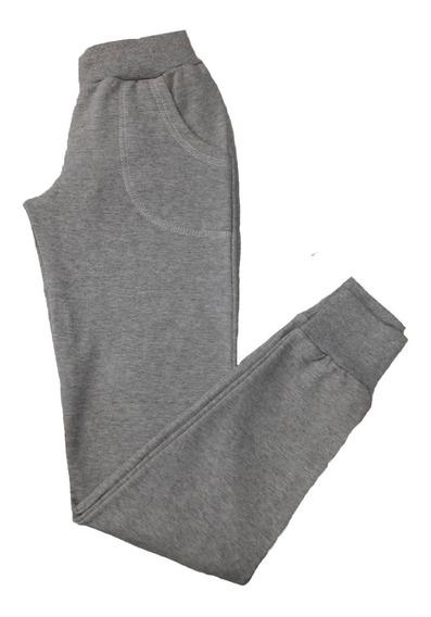 Pantalon Jogging Friza Con Puño Babucha Mujer
