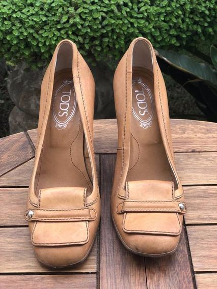 Sapato Caramelo De Couro | Tods