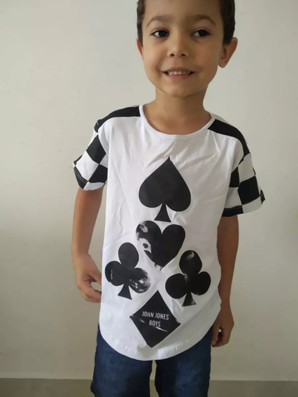 Camisa Camiseta Infantil Menino Slim