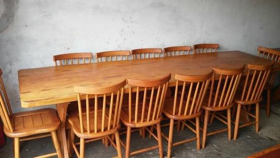 Mesa De Prancha Única Com 12 Cadeiras