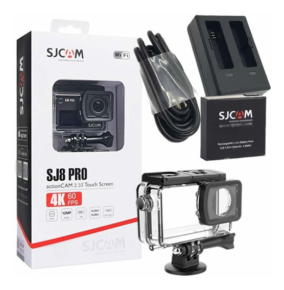 Câmera Esportiva Sjcam Sj8 Pro Original 4k + Kit Bateria