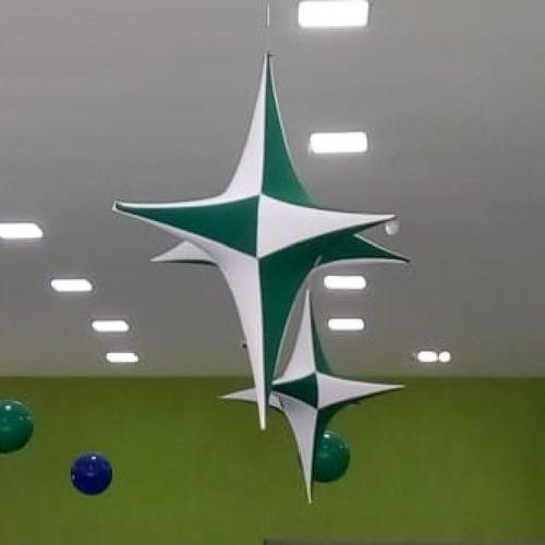 Imagem 1 de 5 de Kit 10 Estrelas Em Tecido (tamanho 1.05 Cm)