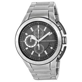Relógio Armani Exchange Ax1403 Cinza Metal Caixa Manual