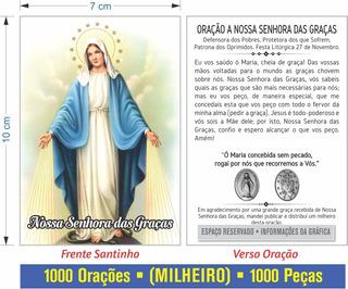 Nossa Senhora Das Graças - Milheiro Oração (1000 Peças)