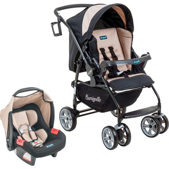Carrinho De Bebê At6 K + Bebê Conforto - Bege