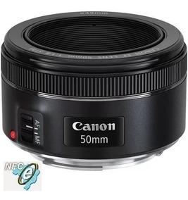 Lente Canon Ef 50mm F/1.8 Stm Auto-foco C/ Nota Fiscal- E