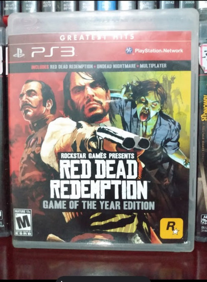 Red Dead Game Of The Year + Mapa Ps3 Parcelamento Sem Juros