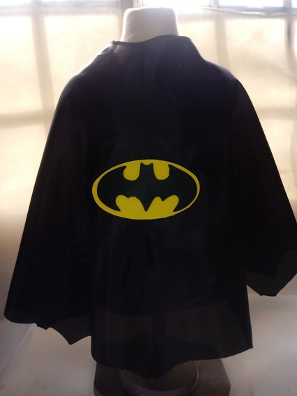 Capa Superhéroes Batman Zorro Superman Largo 50 Cms Con Logo