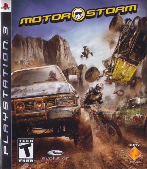 Jogo Motorstorm 1 Playstation 3 Ps3 Mídia Física Corrida