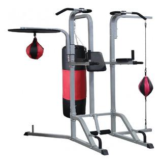 Estação De Musculação Boxe Soco Pancadaria 8 Em 1