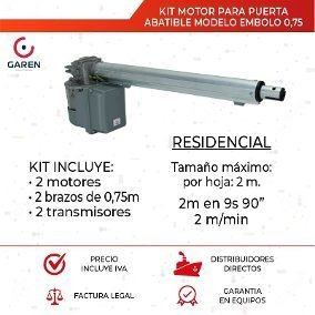 Imagen 1 de 4 de Motor Para Puertas De Garaje Batiente Abatible Guayaquil