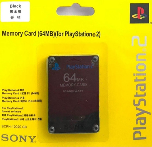 Memory Card 64 Mb Ps2 Playstation 2 Sony 100% Originales !