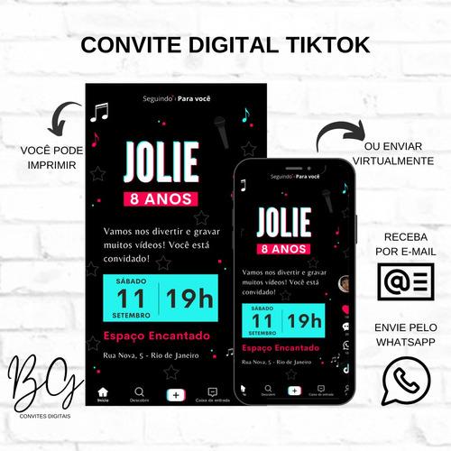 Imagem 1 de 1 de Convite Digital Tiktok