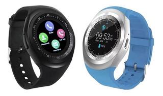 Kit 2 Relógios Smartwatch Y1 Inteligente Bluetooth Novidade