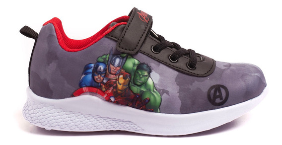 Zapatillas Atomik Marvel Shield Avengers-mvl012gri- Open Spo