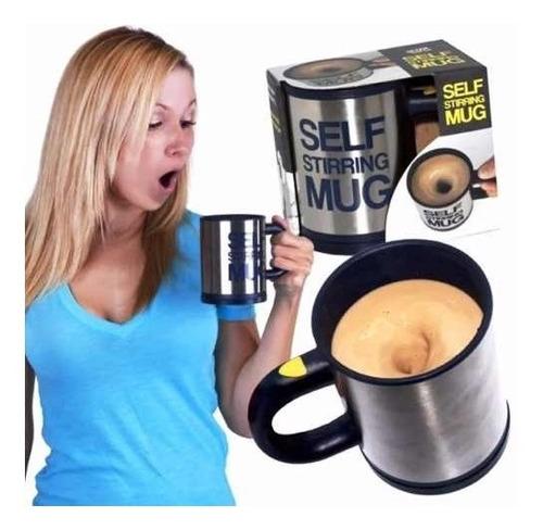 Imagen 1 de 6 de Taza Termica Con Agitador Automatico Self Stirrung Mug H1073