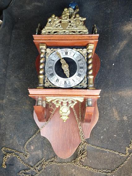 Antiguo Reloj De Pared De Cuerda Pendulo Badische
