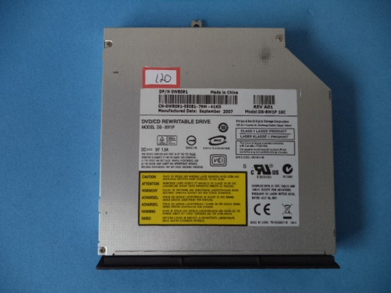 Gravador De Dvd Ds-8w1p Dell Vostro 1400 Pp26l Cx120