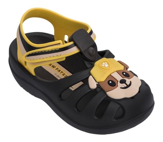 Sandália Infantil Patrulha Canina 21994 - Marrom/amarela