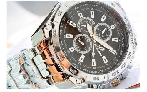 Relógio Masculino Orlando - Pulseira Aço.