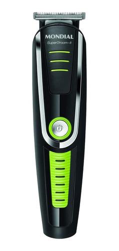 Máquina de acabamento Mondial Super Groom BG-04 6410-01  preto e verde 110V/220V