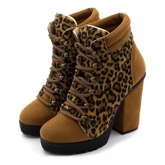 Bota Feminino Sapatos Salto Original Macia Promoções