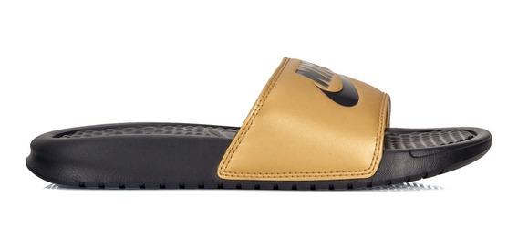 Chinelo Nike Benassi Just Do It Dourado