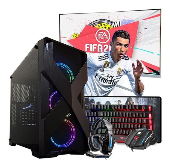 Pc Gamer I5 4º Ger. Gtx 1650 4gb 8gb Hd 1tb Wi-fi Mon.23.8