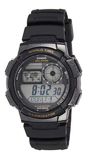 Relógio Casio Masculino Word Time - Ae-1000w-1avcf 3198