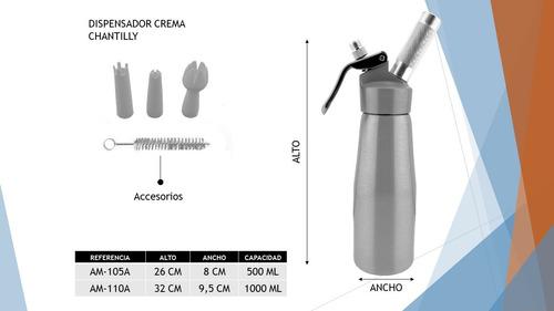 Dispensador De Crema Chantilly 1000ml +24 Balas