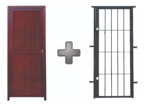 Puertas De Aluminio Con Puerta Reja Ciegas O Con Vidrio