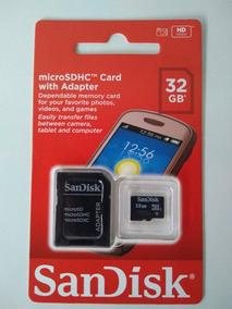 Cartao De Memória 32gb Sandisk Original